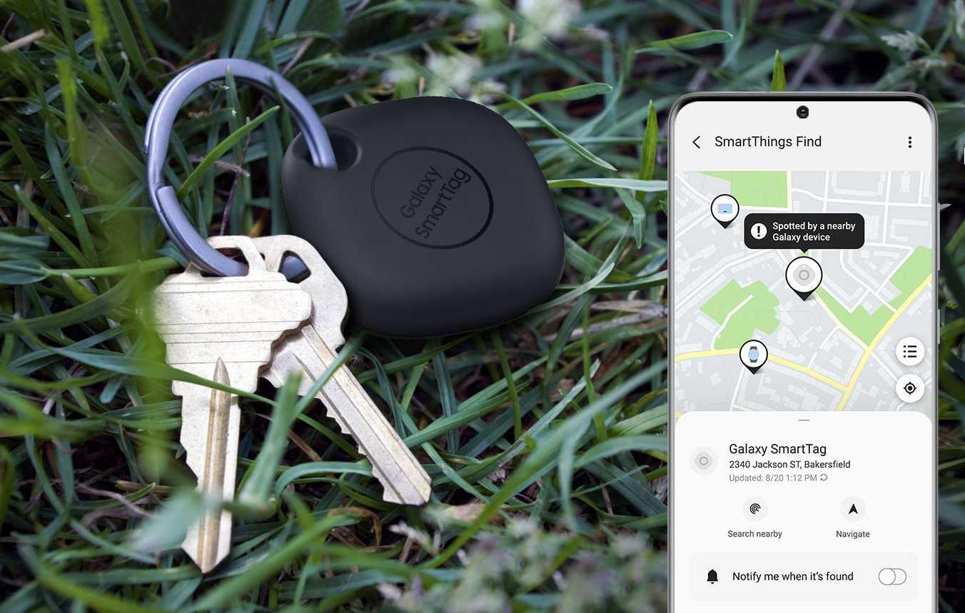三星 SmartTag 蓝牙追踪器可用于操控智能家居设备,其按钮可以开关灯光