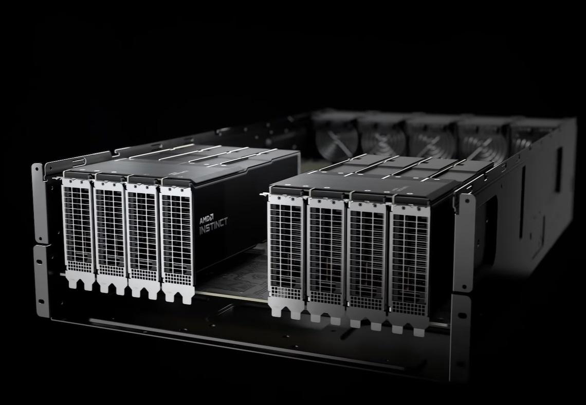 AMD MI200 计算加速卡曝光:采用 MCM 多芯片架构,支持 HBM2E 显存