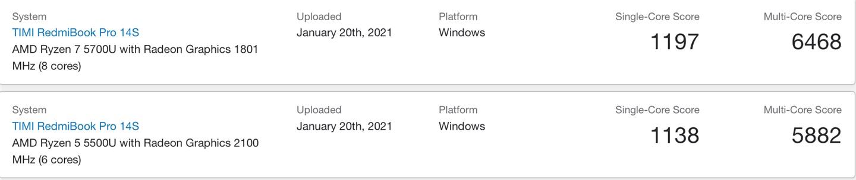 RedmiBook Pro 14s/15s 稍后发布:搭载 AMD 锐龙 5000U/H 处理器