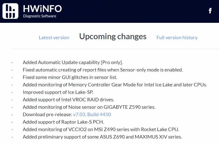 硬件监控工具 HWiNFO 已支持部分 Alder Lake 主板