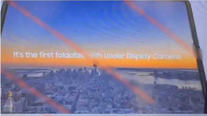 """爆料:三星 Galaxy Z Fold 3 屏下摄像头""""很容易看到,比打孔更明显"""""""