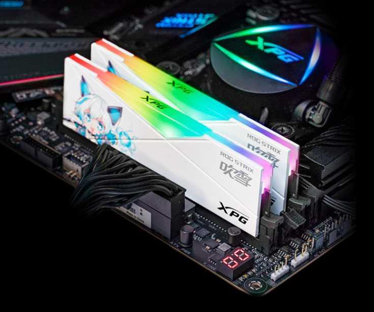 """威刚联名 ROG,推出二次元内存""""吹雪"""":16GB 套装 1099 元"""